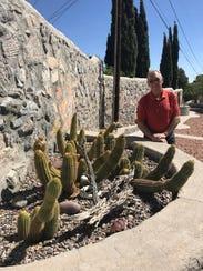 El Pasoan Ken Johnson has several raised beds in his