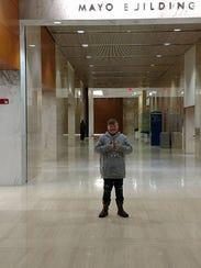 Ashton Henderson of Duncan Falls arrived at Mayo Clinic