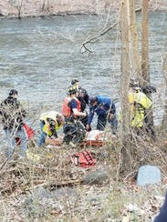 The man was saved and taken to Westchester Medical