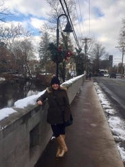Jenna Intersimone in New Hope this winter.
