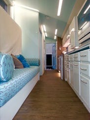 tracey powells eye catching home is 150 square feet