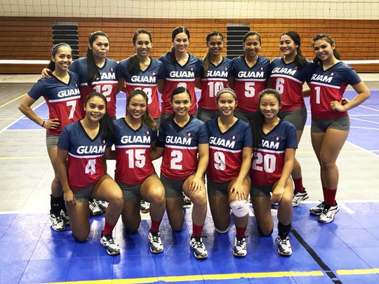 The women's volleyball team that will represent Guam