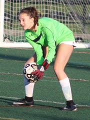 Sophomore goalie Maya Nesti helped Seaholm maintain