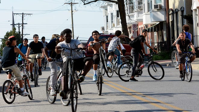 """A group of York City teens are using bicycles to get exercise and stay away from the gang life, Monday June 22,2015.