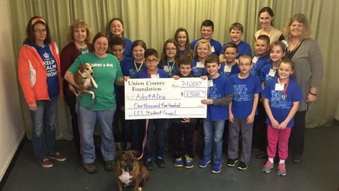 Liberty Elementary students raised money to help Adopt-A-Dog.