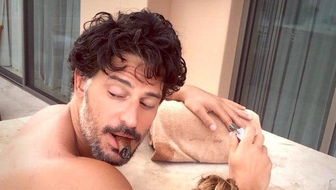 Sofia Vergara and Joe Manganiello on their Mexican vacation.