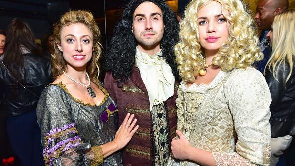 Amanda Kwolyk, Ricky Wenthen and Jessica Bendig attend Ovation TV Celebrates Premiere of the Highly-Anticipated Drama, Versailles, with Cast Members, Co-Creator and Friends at a Louis XIV-Themed Party at Beautique in New York City.