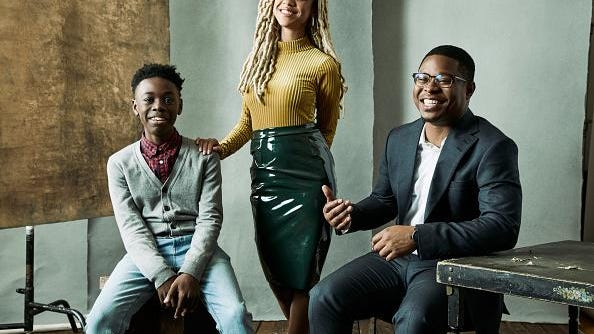 "Alex Hibbert (left), Tiffany Boone and Jason Mitchell from Showtime's ""The Chi."""