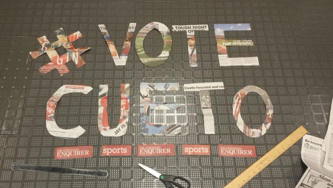 Even The Enquirer/Cincinnati.com team jumped in the #VoteCueto social push Friday.