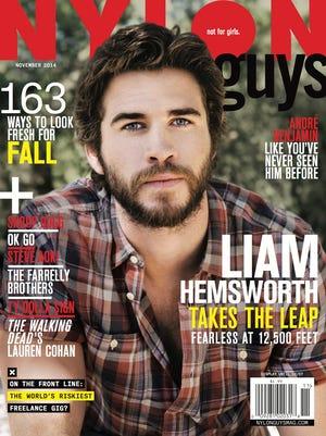 Liam Hemsworth on 'Nylon' November issue.