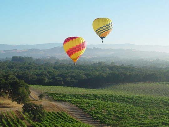 "Live auctions for the include travel experiences such as ""Sip and Soar Over Napa Valley."""