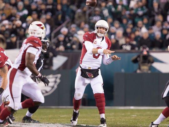 Arizona Cardinals quarterback Carson Palmer (3) passes