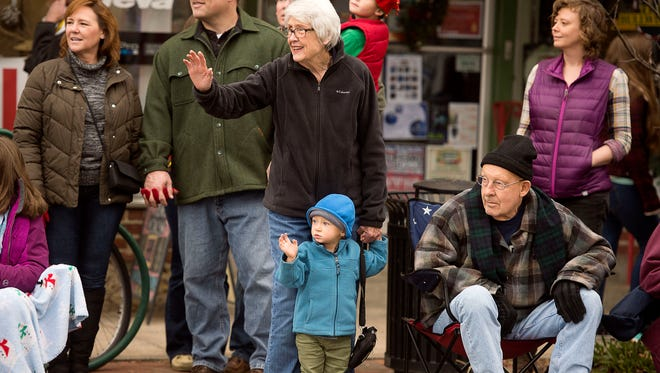 Spectators at Brevard's annual Christmas Parade in 2016. Transylvania County politicians believe political parties aren't needed in local governance.
