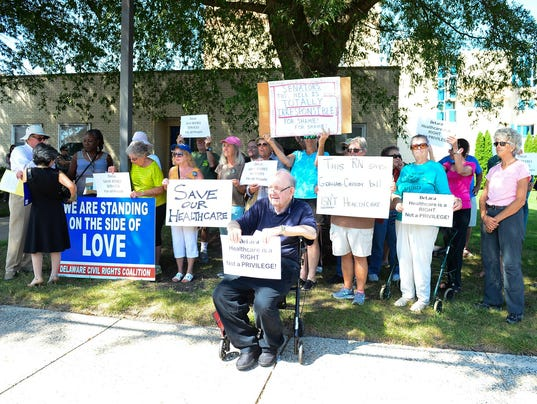 Beebe Medical Center Obamacare repeal protest.