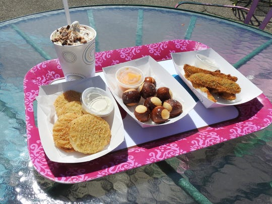 Gracie's offers a variety of ice cream and food, including