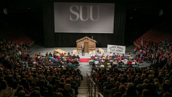 "Southern Utah University held the premier of ""Back Up The Mountain,"" in the Centrum Arena Thursday night."