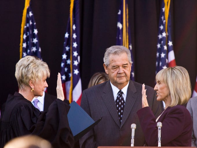 Jan Brewer was sworn in as the state's 22nd governor