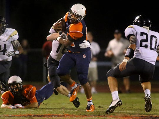 Running back Charlie Davidson has helped Blackman average 46.7 points per game the past three games.