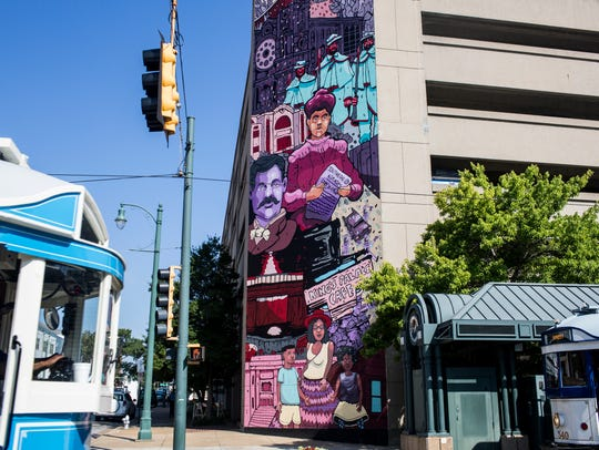 July 13, 2018 - The mural at MLK Avenue and S. Main