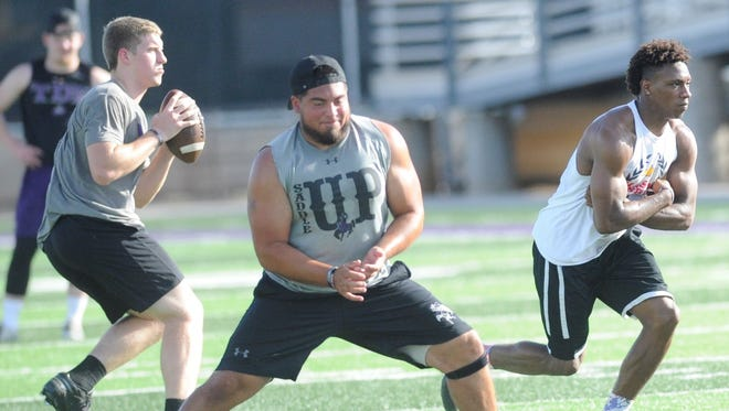 Hardin-Simmons center Vic Rodriguez picked up a number of postseason accolades this year, including the Rimington Trophy for the best center in NCAA Division III football. Rodriguez was a three-year starter for the Cowboys and team captain this past season.