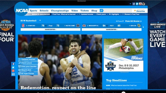 There's a great women's hoops tournament going on. Has anyone told the NCAA's website?
