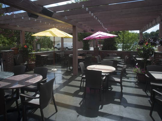 Guests can dine outdoors at The Outdoor patio at Sanook