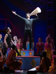 "Noah Grimm's role as lead actor in the Brighton High School musical ""Pippin"" involved singing, dancing and acrobatics."