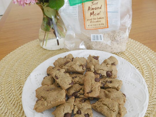 Chocolate Chip Almond Meal Cookies