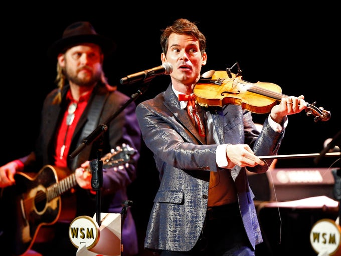 Old Crow Medicine Show member Ketch Secor performs