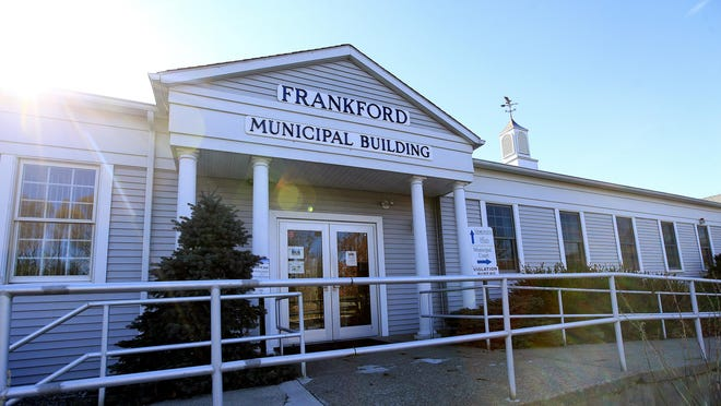 The Frankford Municipal Building, above, is where most Frankford voters have cast their ballots in past elections. Because of COVID-19, this year's voting in New Jersey is being done by mail.