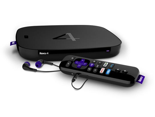 The Roku 4 Net TV set-top box and remote