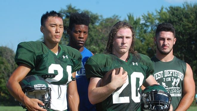 Ken Lim, Quran Dozier, Gio Gismondi and Anthony Seas give West Deptford a lethal combination of running backs.
