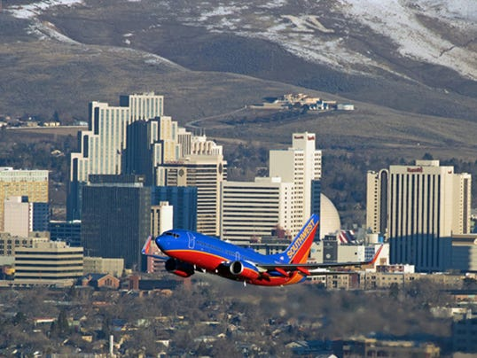 Southwest Airlines Reno takeoff