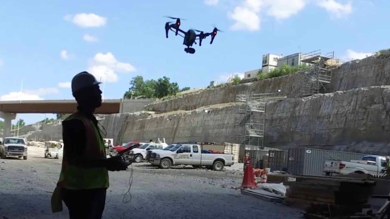 Watch: Drone footage of East End Bridge tunnel