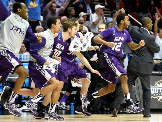 NCAA Stephen F Austin VCU Basketball