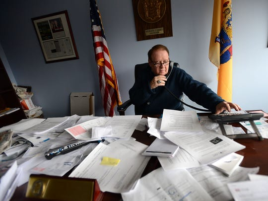 Former governor Dick Codey in his insurance office
