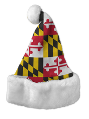 Route One Apparel's Maryland Flag Santa Hat is shown