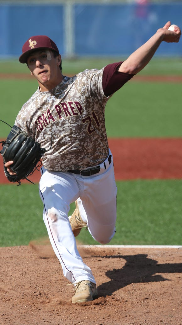 Iona Prep pitcher Anthony Piccolino delivers a pitch