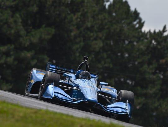 Juan Pablo Montoya drives Chevrolet's 2018 Indy car