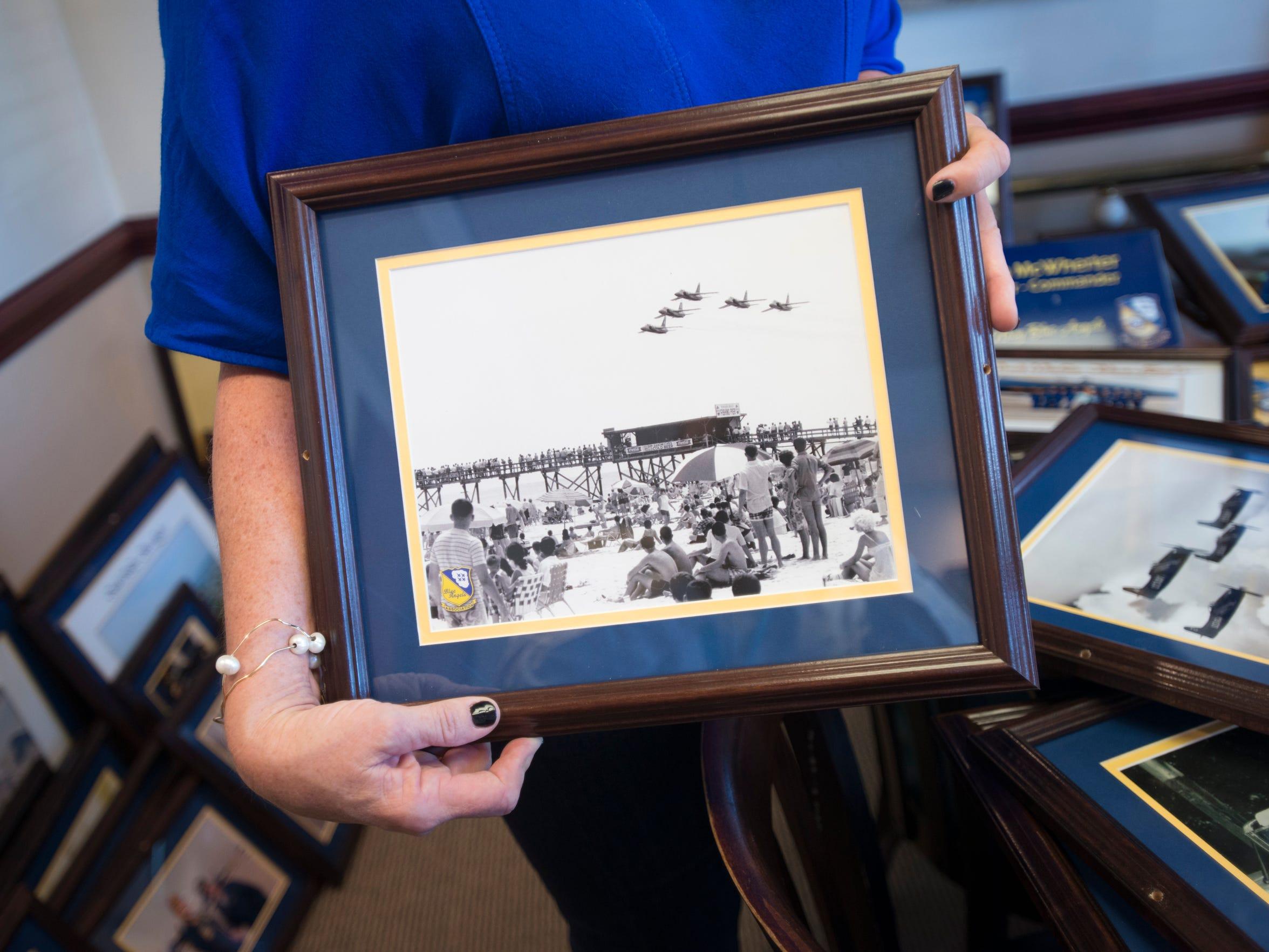 Blue Angels memorabilia, including vintage photos,