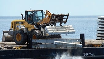 In early July, St. Lucie County created another artificial reef using 500 tons of concrete materials in roughly 120 feet of water.