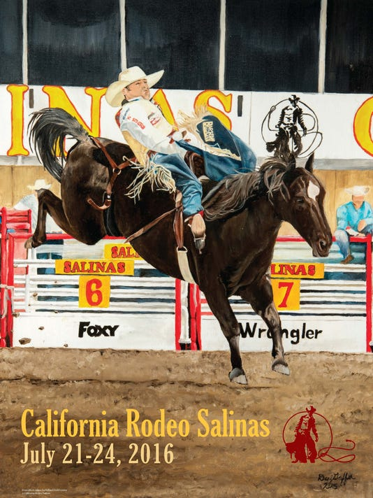 2016 California Rodeo Salinas commemorative poster.