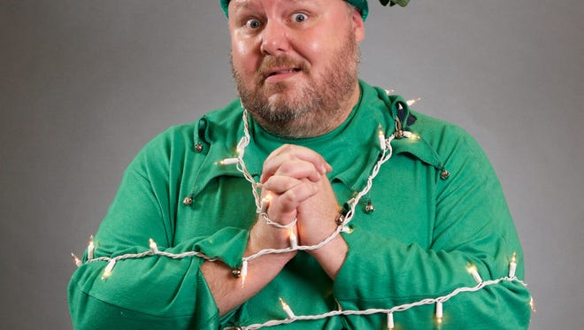 """Ron May, best known as the founder of Stray Cat Theatre but also a terrific comic performer plays Crumpet the Elf in """"The Santaland Diaries"""" Dec. 10-23 at Herberger Theater Center"""