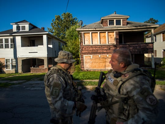 Members of the Metro SWAT team used abandoned properties on Valley Street in Binghamton for training Wednesday.