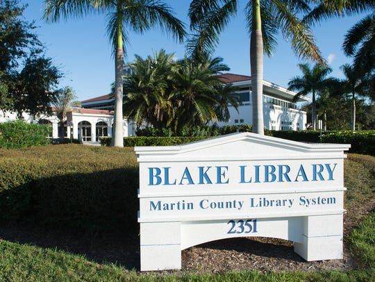 The Blake Library in Stuart is seen.