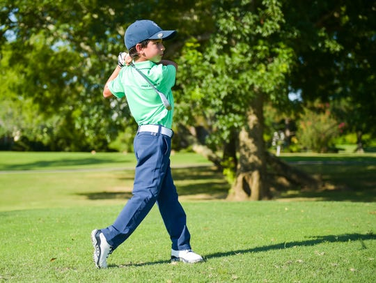 Carter Bourque at the Golf Academy at Le Triomphe are