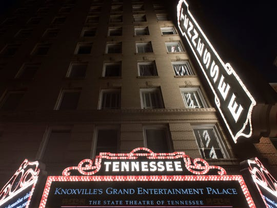 The Tennessee Theatre marquee was relit on Wednesday, August 31, 2016.