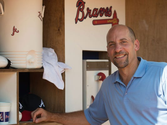 Atlanta Braves Legend John Smoltz Surprises Fans In Piedmont Park As Part Of Delta Air Lines' Season-Long Delta Dugout Initiative