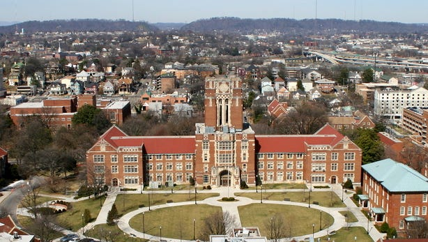 The Hill and Ayres Hall, University of Tennessee. (University of Tennessee)