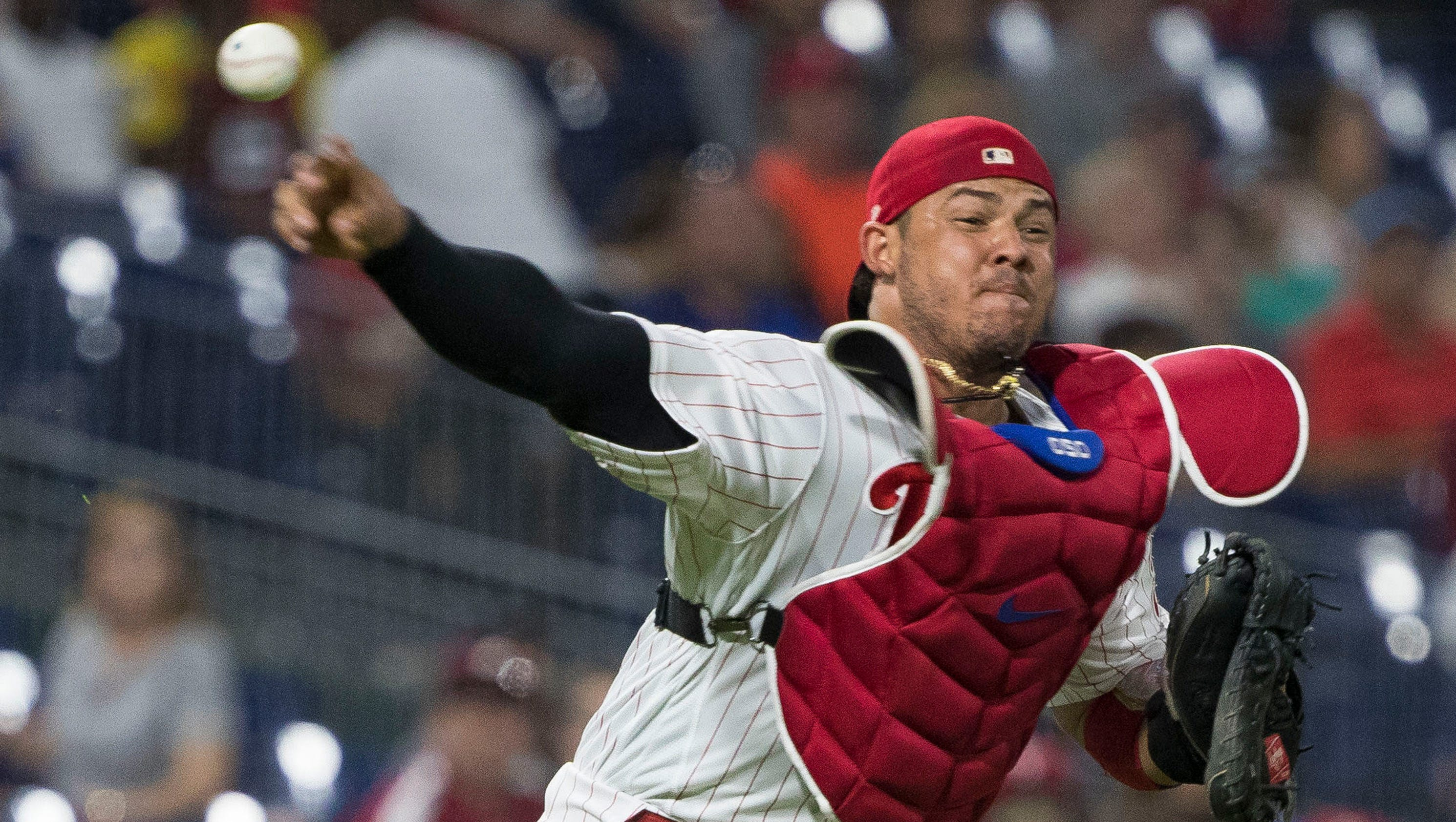 Phillies' Gabe Kapler: Jorge Alfaro and Pudge Rodriguez are 'neck-and-neck, at worst'
